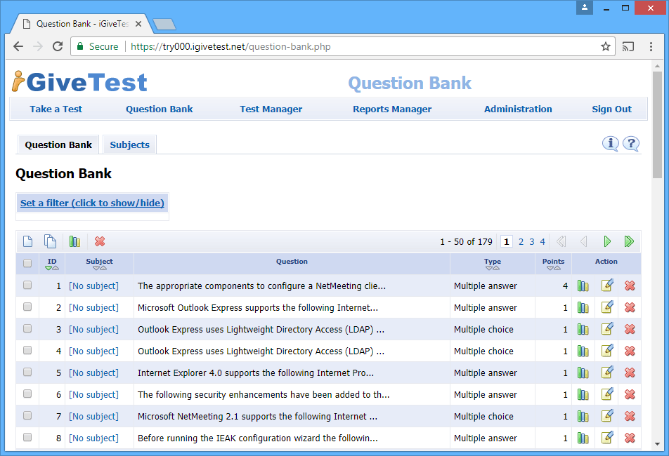 Question Bank - iGiveTest