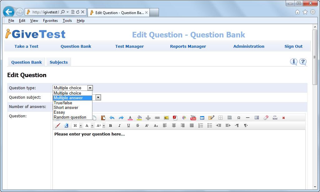 create online essay test